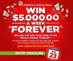 Win $5,000 a Week Forever From PCH - Official Coupon Review